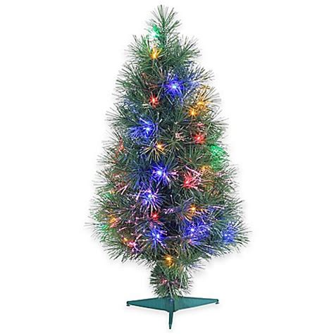 fiber optic 3 foot pre lit christmas tree with multi color