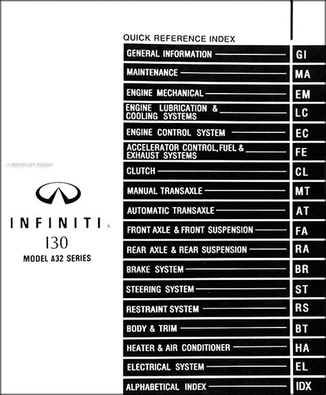 service manual old car manuals online 1997 infiniti i engine control nissan infiniti i30