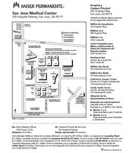 Kaiser San Jose Map by Kaiser Permanente Locations In San Go Get Free Image