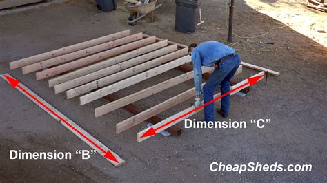 Shed Floor Joists by Cheaper To Buy Or Build Shed Guide Nanda