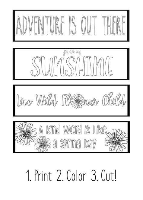 printable autumn bookmarks to color printable spring bookmarks coloring page yellow bliss road