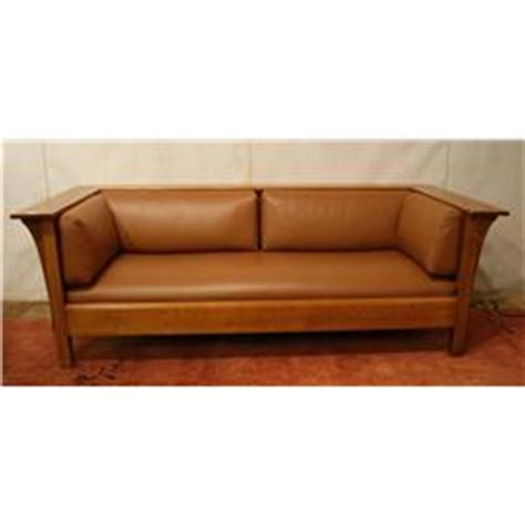 stickley leather sofa mission quot stickley quot leather sofa