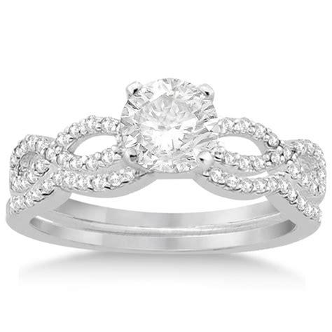 infinity twisted matching bridal set 14k white