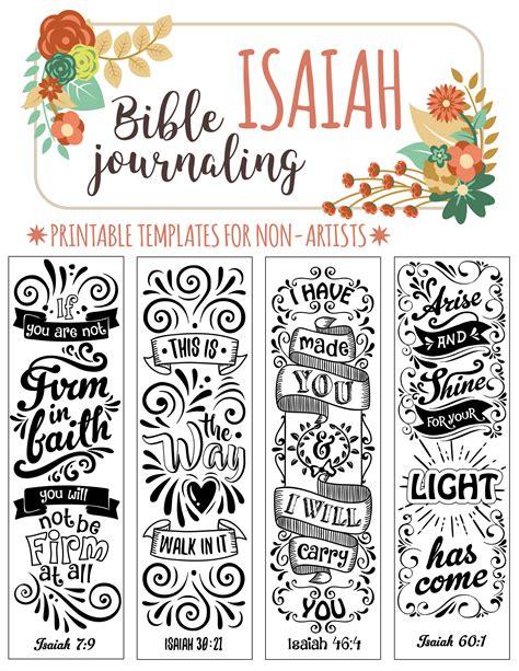 isaiah 4 bible journaling printable templates