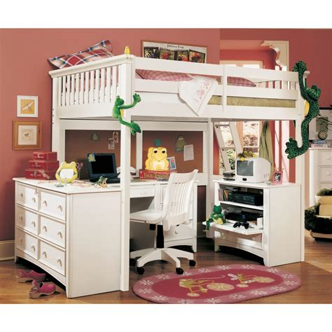 bunk beds for girls with desk loft bed with desk found on csnbunkbeds com kids room