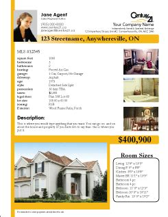 real estate listing sheet template printforlesscanada free century 21 listing sheet