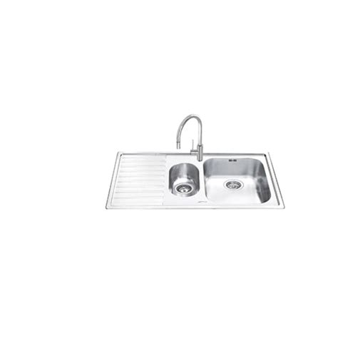 smeg kitchen sinks smeg ll102s 2 kitchen sink 1 5 bowl brushed stainless