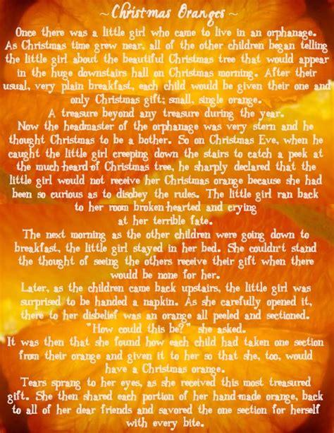 printable christmas orange story in between the lines december 2012