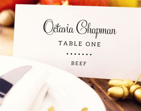 meal card template best 25 place card template ideas on free