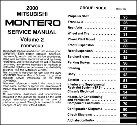 motor repair manual 2002 mitsubishi montero free book repair manuals service manual montero sport 1999 2000 service mitsubishi montero 1991 2000 service repair
