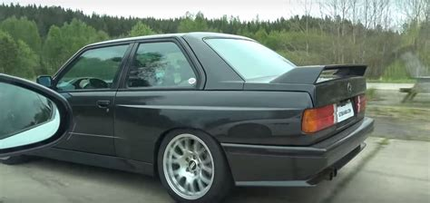sleeper e30 bmw m3 with m5 v10 engine roasts jaguar f type