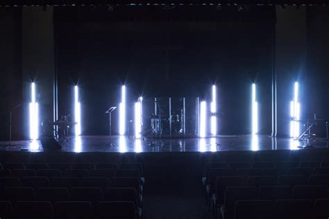 stage lighting design led glow sticks church stage design ideas