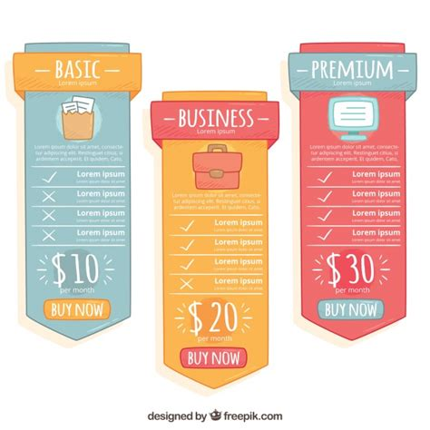 web price plan banners vector free download price banners with different plans vector free download