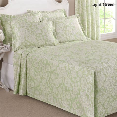 fitted bed coverlet floral grace lightweight fitted bedspread