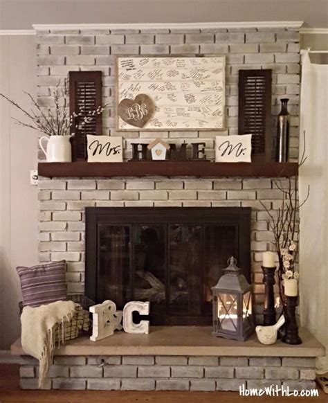 fireplace decor 25 best ideas about brick fireplace decor on pinterest