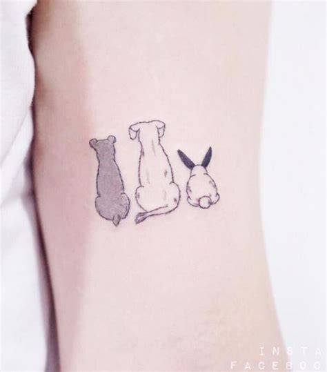 cute dog tattoos dogs rabbit inkstylemag
