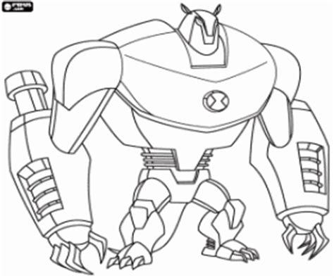 Similiar Groan Ben Ten Coloring Pages Robot Keywords
