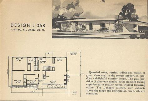 atomic ranch floor plans vintage home plans mid century homes atomic ranch