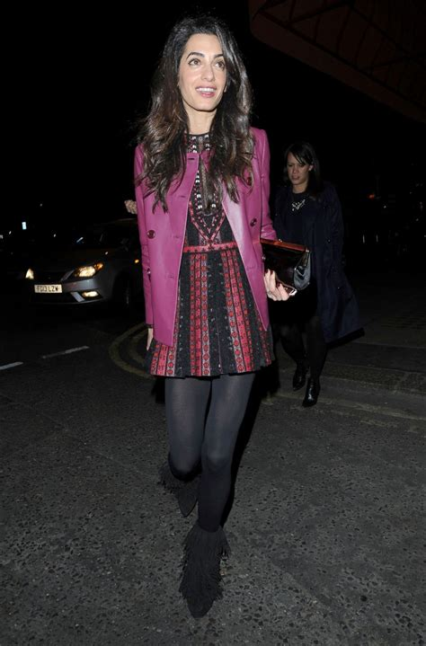 Chic Mini Dress amal clooney steps out in a chic mini dress picture all