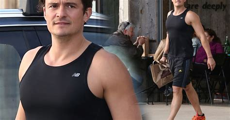 orlando bloom training orlando bloom s got muscles actor shows off his quot gains