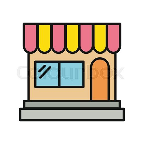 Window Awning Plans Store Icon Shop Icon Flat Design Shop Or Market