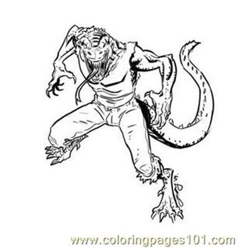 lizard spiderman coloring pages spiderman lizardman colouring pages