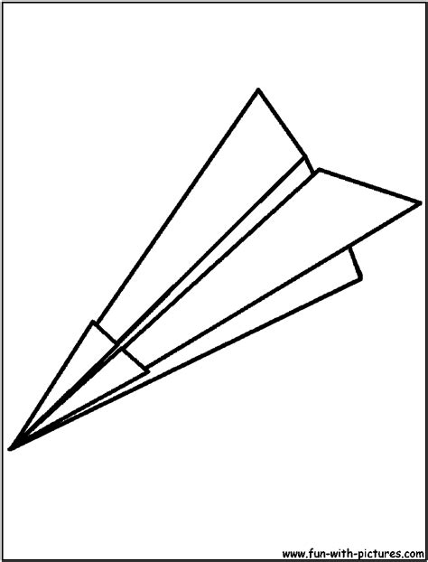 free coloring pages of paper airplane
