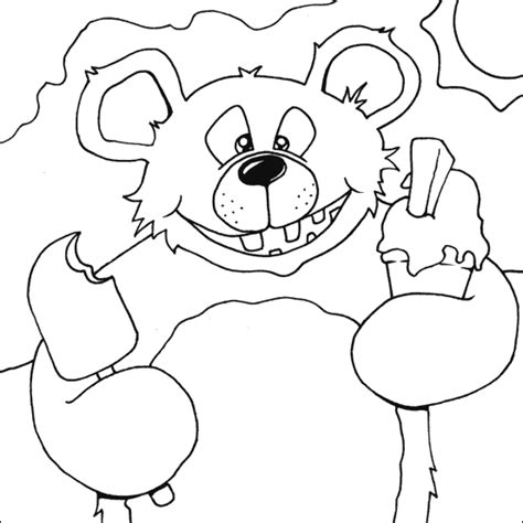 ice bear coloring page ice cream coloring pages 360coloringpages