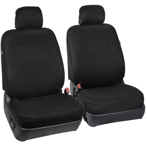 front split bench seat car seat covers black polyester cloth front rear