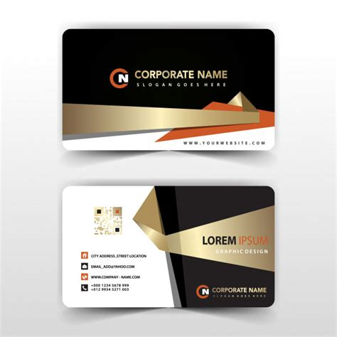 card visit template corporate business card template