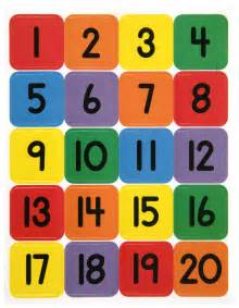 Printable Number 1 20 Number Chart For Preschool Activity Shelter
