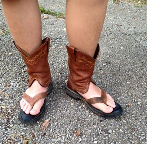 boat sandals are cowboy boot sandals the latest trend for summer