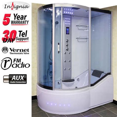 insignia 1500mm steam shower cabin available at