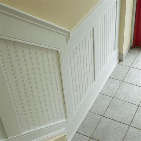 Cheap Wainscoting Ideas by 94 Inch L Adjustable Height Beadboard Panel Stair