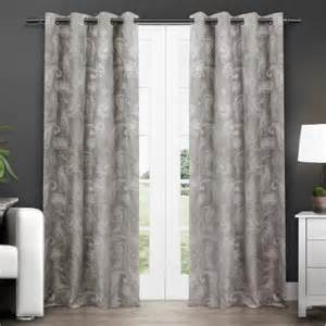 Paisley Window Curtains Exclusive Home Bangalore Paisley Thermal Grommet Top Window Curtain Panels 54 Quot X 84 Quot Ash Grey