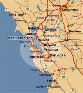 map of and surrounding area san francisco map and surrounding area