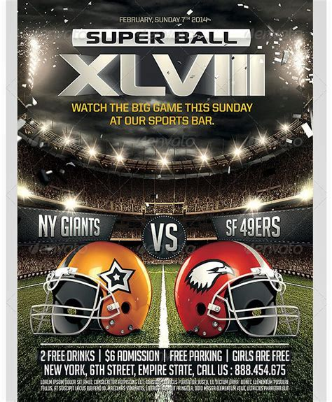 Football Party Flyer Template