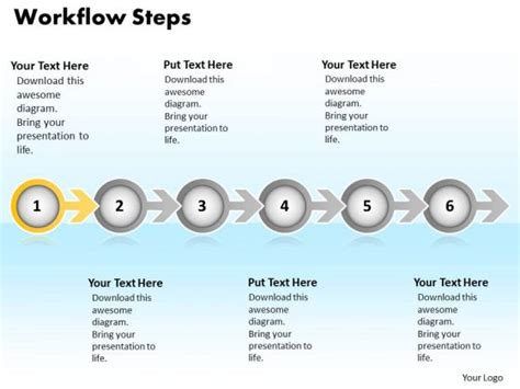 workflow steps workflow ppt 28 images workflow process steps editable