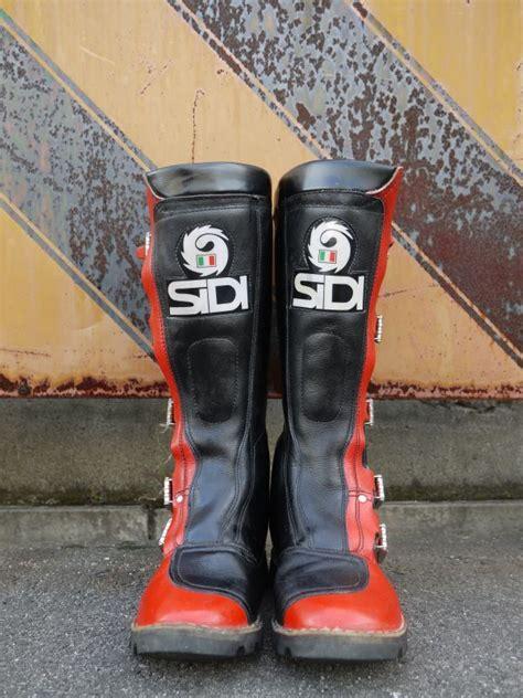 vintage motocross boots sidi vintage motocross boots black 215 red 26cm sixhelmets