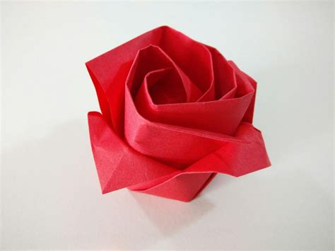 Rosa De Origami - rosa de papel comohacerorigami net
