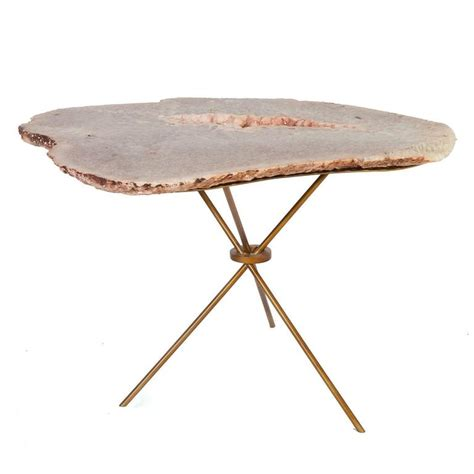 Quartz Table L Quartz Table L Vintage Brass And Quartz Table L At 1stdibs Biomorphic Rock Quartz Geode