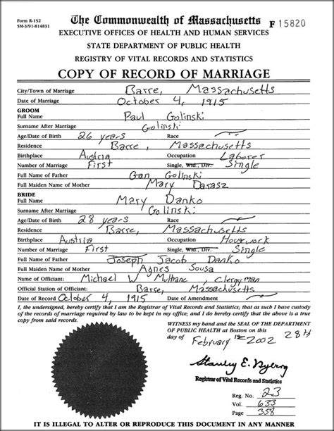 Las Vegas Vital Records Marriage Family Tree Template Marriage Records