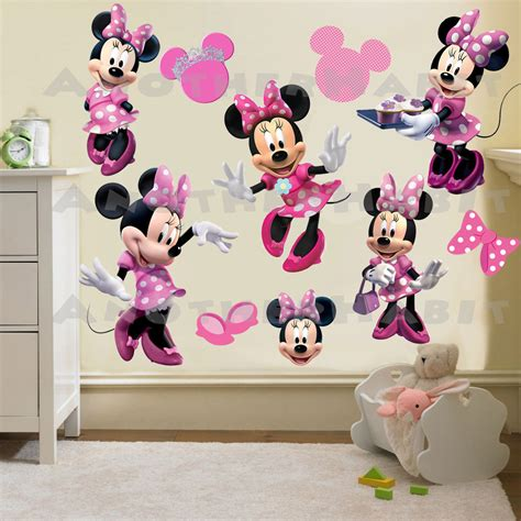 minnie mouse room minnie mouse wall decal room decor