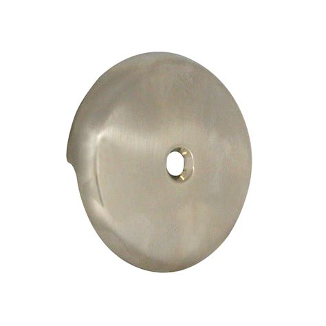 overflow plate bathtub tub drain overflow plate in brushed nickel danco