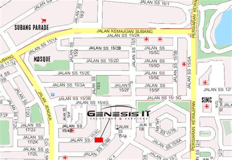 subang jaya map  subang jaya satellite image