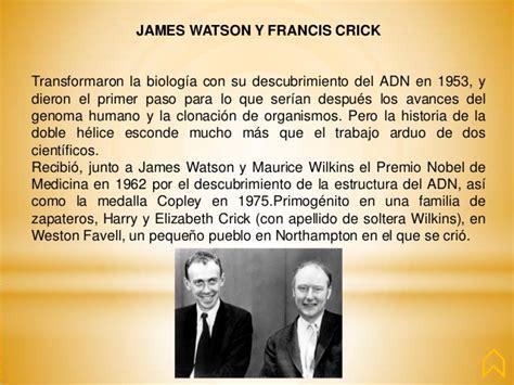 biografia watson y crick biografia watson y crick 100cia qu 237 mica biograf 237