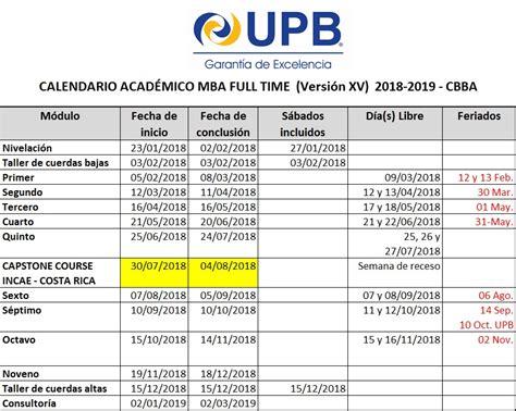 Desales Mba 2018 Calendar by Calendario Acad 233 Mico Upb