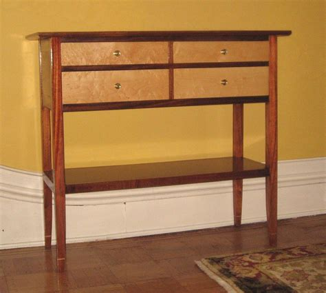 Mahogany And Birds Eye Maple Console Table Finewoodworking