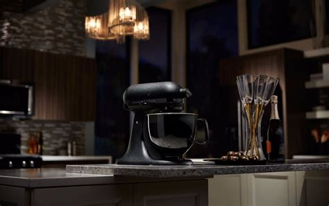 all black kitchen aid all black kitchenaid mixer popsugar food