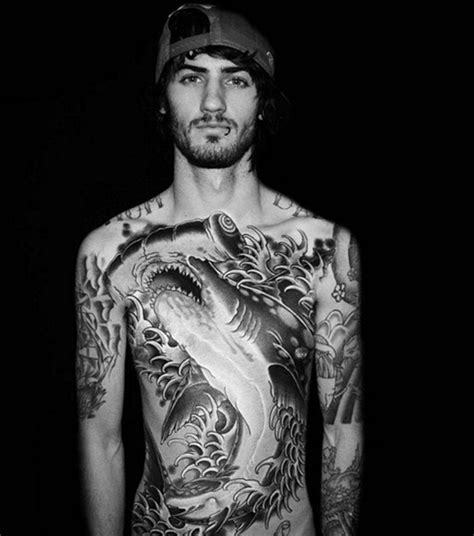 torso tattoos for men designs for hammerhead chest